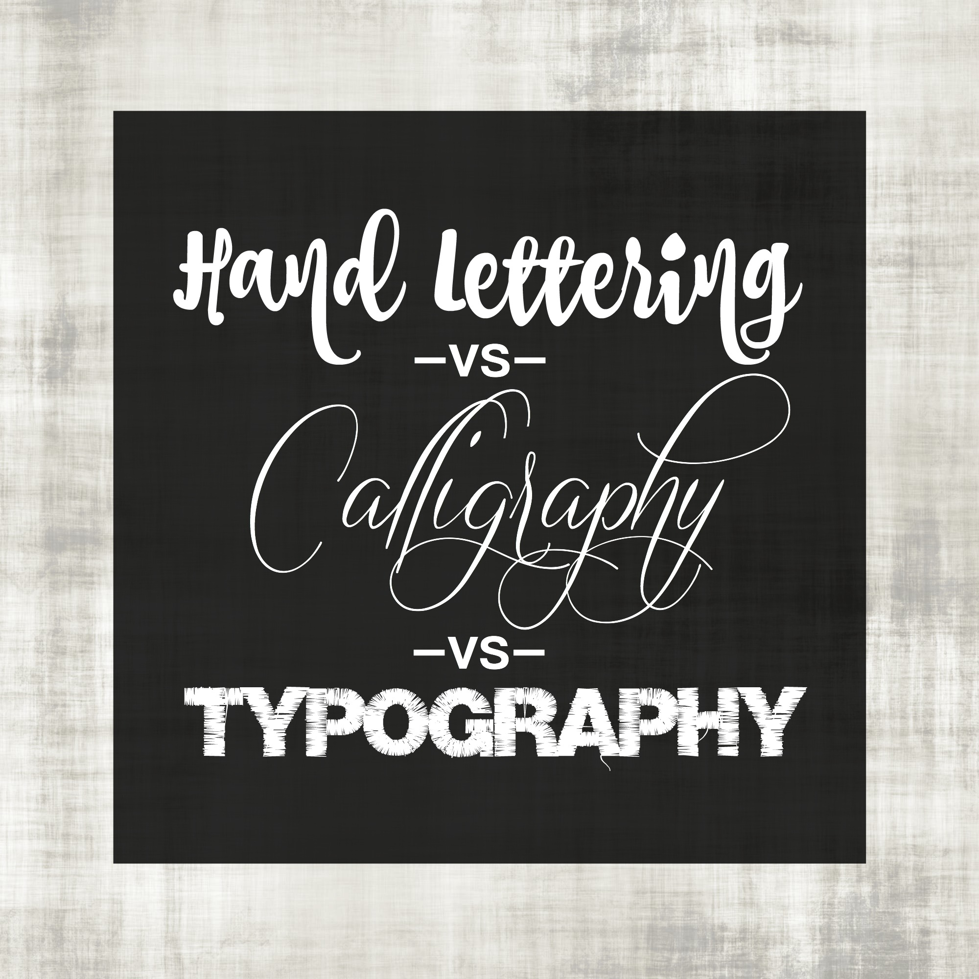 Hand lettering vs calligraphy typography the pigeon