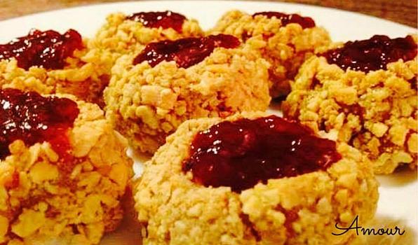 boule rouge koekjes