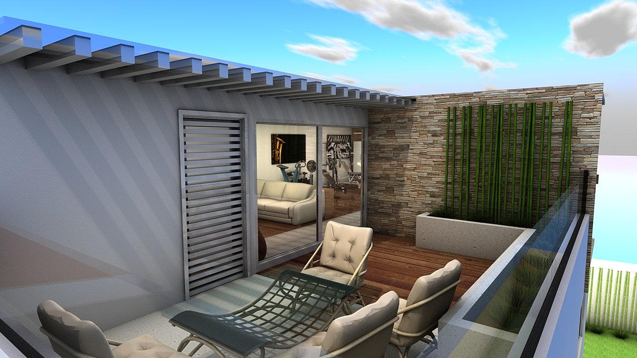 alar-t renders 3D México | Roof Garden, Metepec.