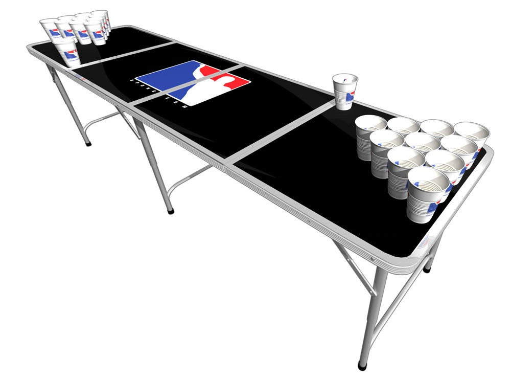 how to play the beer pong table mixed mobile bar. Black Bedroom Furniture Sets. Home Design Ideas
