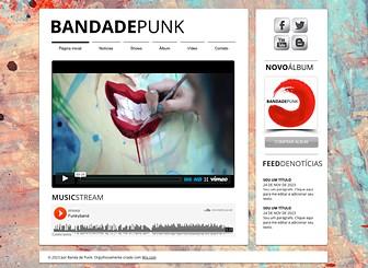 Banda Punk Template - Um plano de fundo com estilo artístico grunge e fontes intensas fazem este template ter um estilo tipo funk. Inclua vídeos e músicas, espalhe notícias sobre shows e compartilhe novidades e links com seus fãs. Crie seu website e faça sua banda subir de nível!