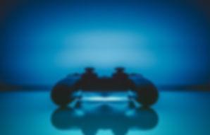 Videospielkonsole Blau