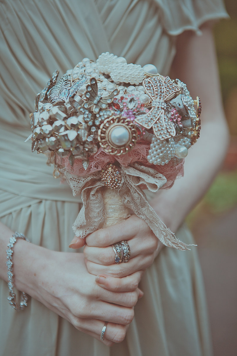 Love Is Vintage Bouquets Bespoke Brooch And Button
