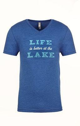 Men's Life is better at the lake V-Neck VINTAGE ROYAL.jpg