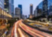 Rush hour traffic in Jakarta business di