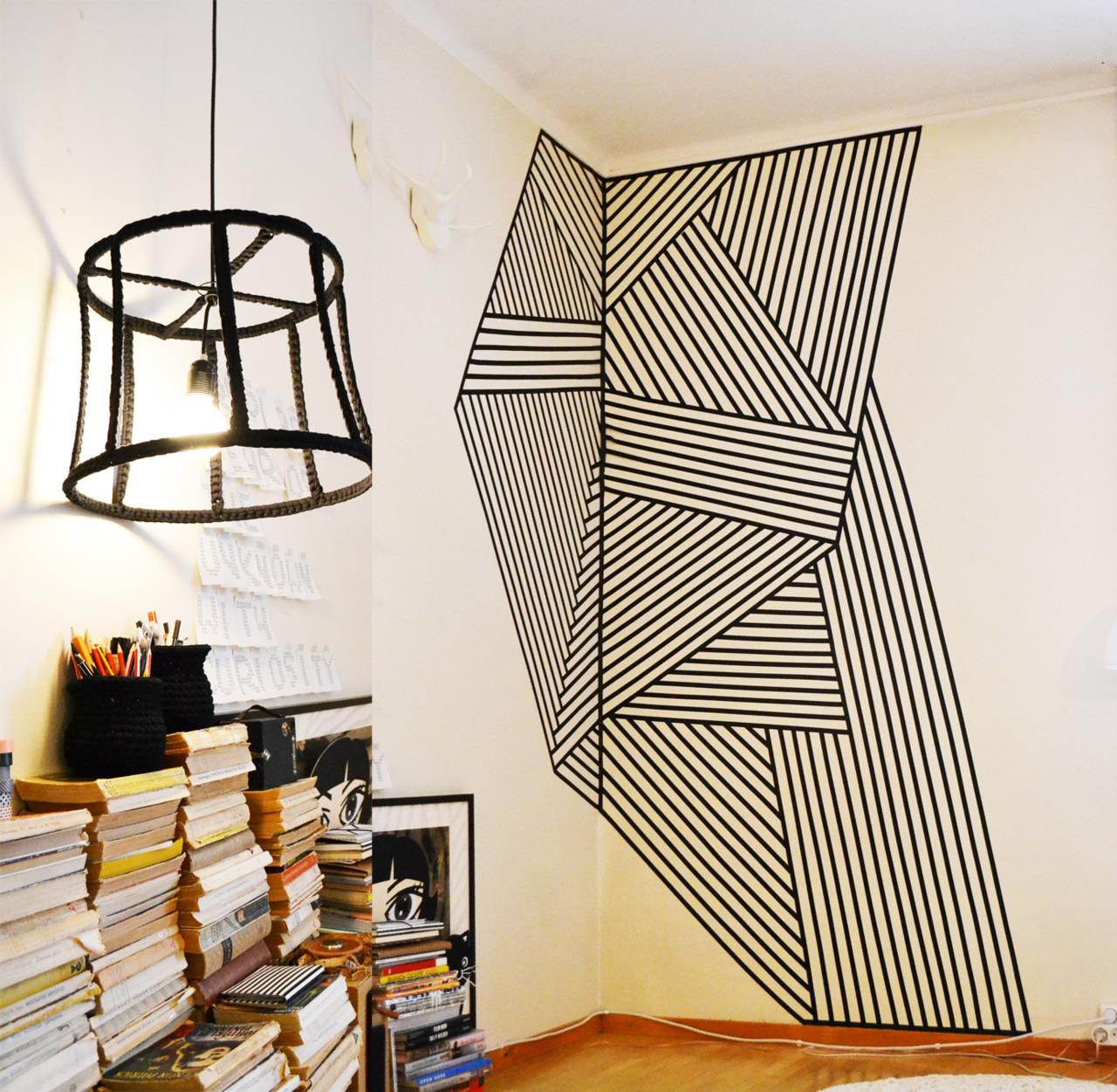 Diy refaire sa d co coup de masking tape japonais for Geometric washi tape designs