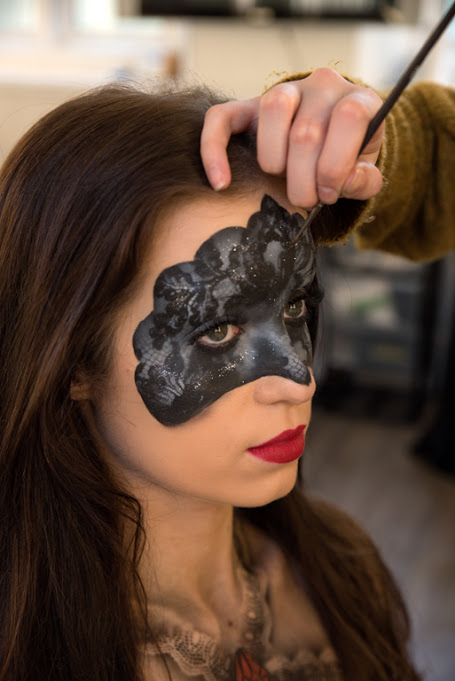Airbrushed mask- Body Art