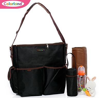 colorland baby diaper bag black clb 006. Black Bedroom Furniture Sets. Home Design Ideas