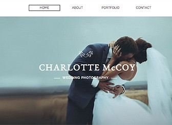 Wedding Photography Template - Entice potential clients with this beautiful and classic photography website template. With parallax scrolling and a stunning collage gallery to showoff your portfolio, it's never been easier to showcase your talent. Simply click edit to personalize this template and make your photography standout!