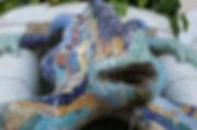 Barcelona Spain Gaudi Guell Park Gecko