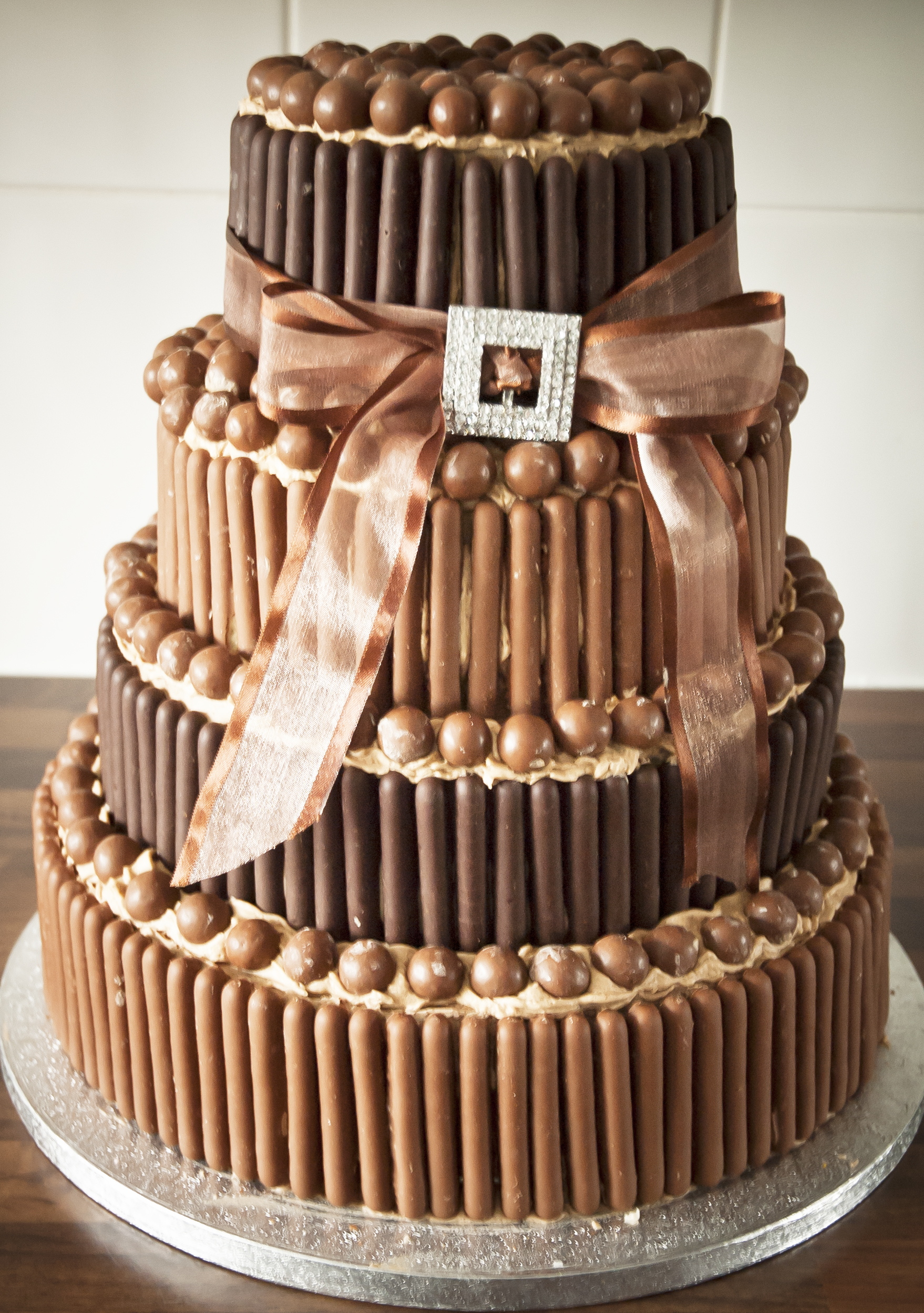 Joconde Cake With Chocolate Design : Wedding cakes, Cake decorating courses, Sunderland Durham ...