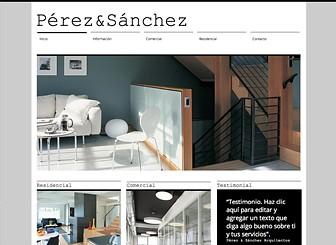 Arquitecto & Co. Template - Esta moderna plantilla web tiene el diseño ideal para arquitectos y diseñadores de todos los campos. El generoso espacio para contenido textual e imágenes, permite exhibir tus proyectos con claridad. Personaliza el diseño y la disposición para hacer que tu empresa se destaque del resto.