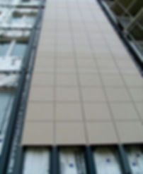 Ronson 300, visible fastening gres porcelain tiles suspended ventilated facade system