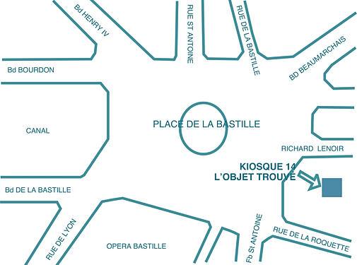 EXPO 'L'Objet Trouvé' - Kiosque Bastille, Paris (FR) - 18-29 Sept. 2013 dans Ateliers d'Art de France