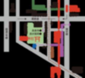 富部神社, 交通, アクセス, 地図