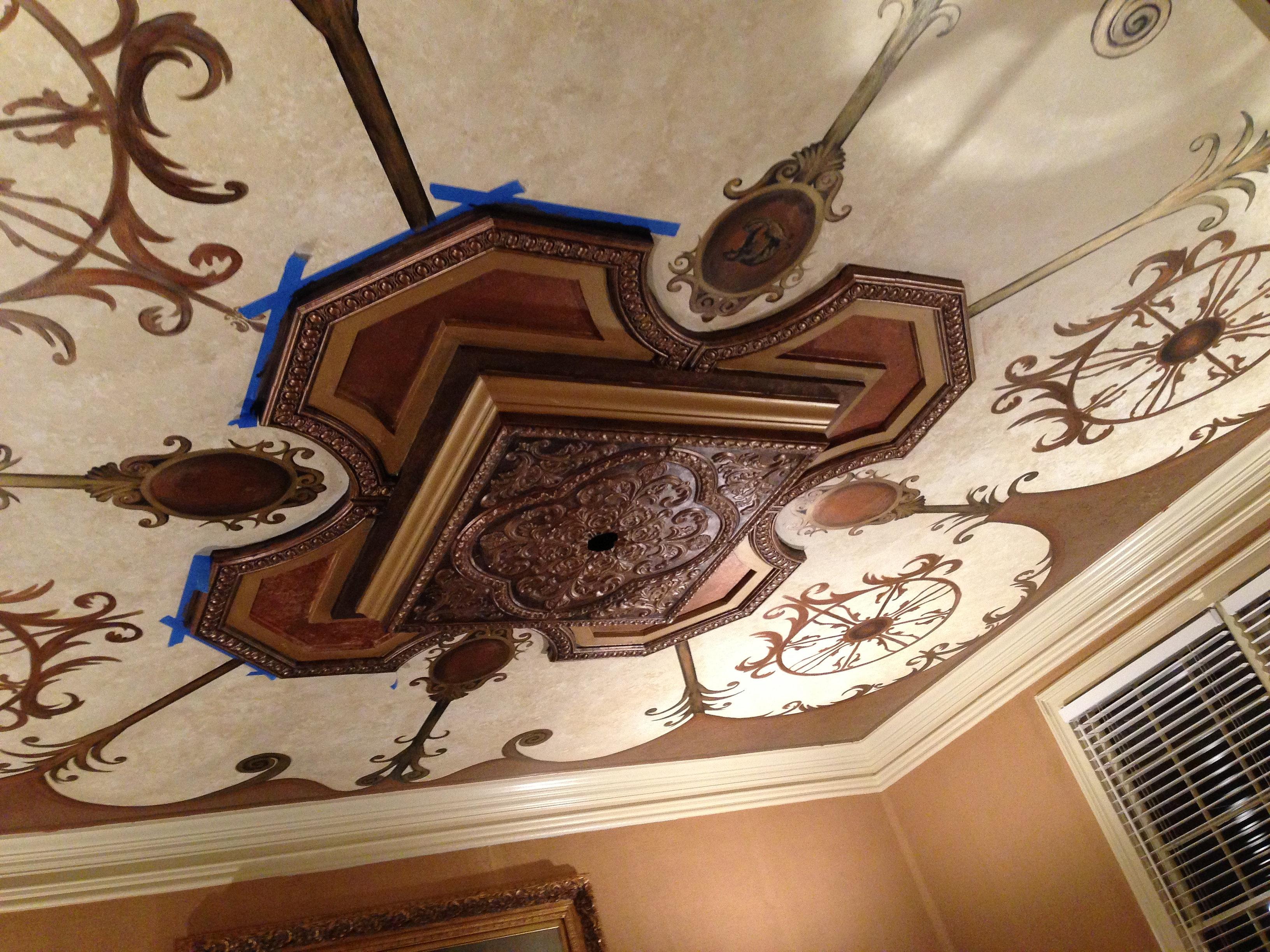 Barry Belcher Art amp Design Ornate Dining Room Ceiling Mural