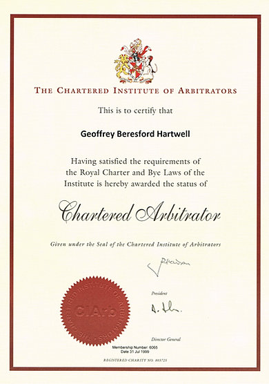geoffrey hartwell  consulting engineer and arbitrator