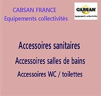 accessoires sanitaires CABSAN FRANCE