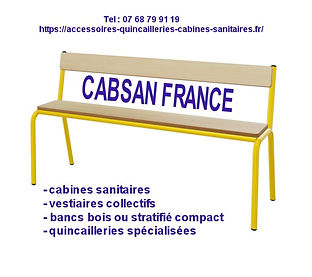 bancs bois-accessoires pour collectivité