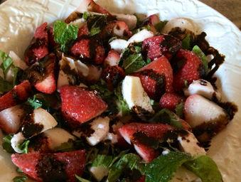 Summer Strawberry Caprese Salad