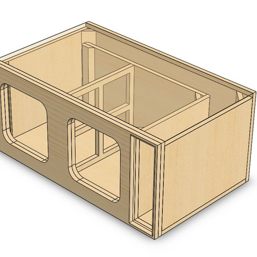 Custom box blueprint designs square subwoofers add on design feature sciox Images