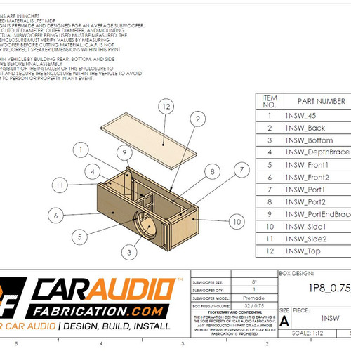 Car audio fabrication custom techniques video tutorials car single ported 8 design 075 cubic ft 32 hz malvernweather Image collections