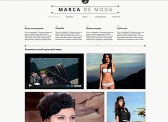 Loja Fashion Template - Crie um site moderno para a sua confecção usando este template grátis. Bom para designers e varejistas, a galeria de fotos permite que você construa um book personalizado. Escolha um esquema de cores e um design que corresponde ao seu estilo.
