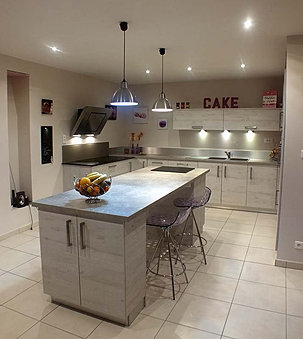 Ilot de cuisine ilot de cuisines - Cuisine blanc laque avec ilot ...
