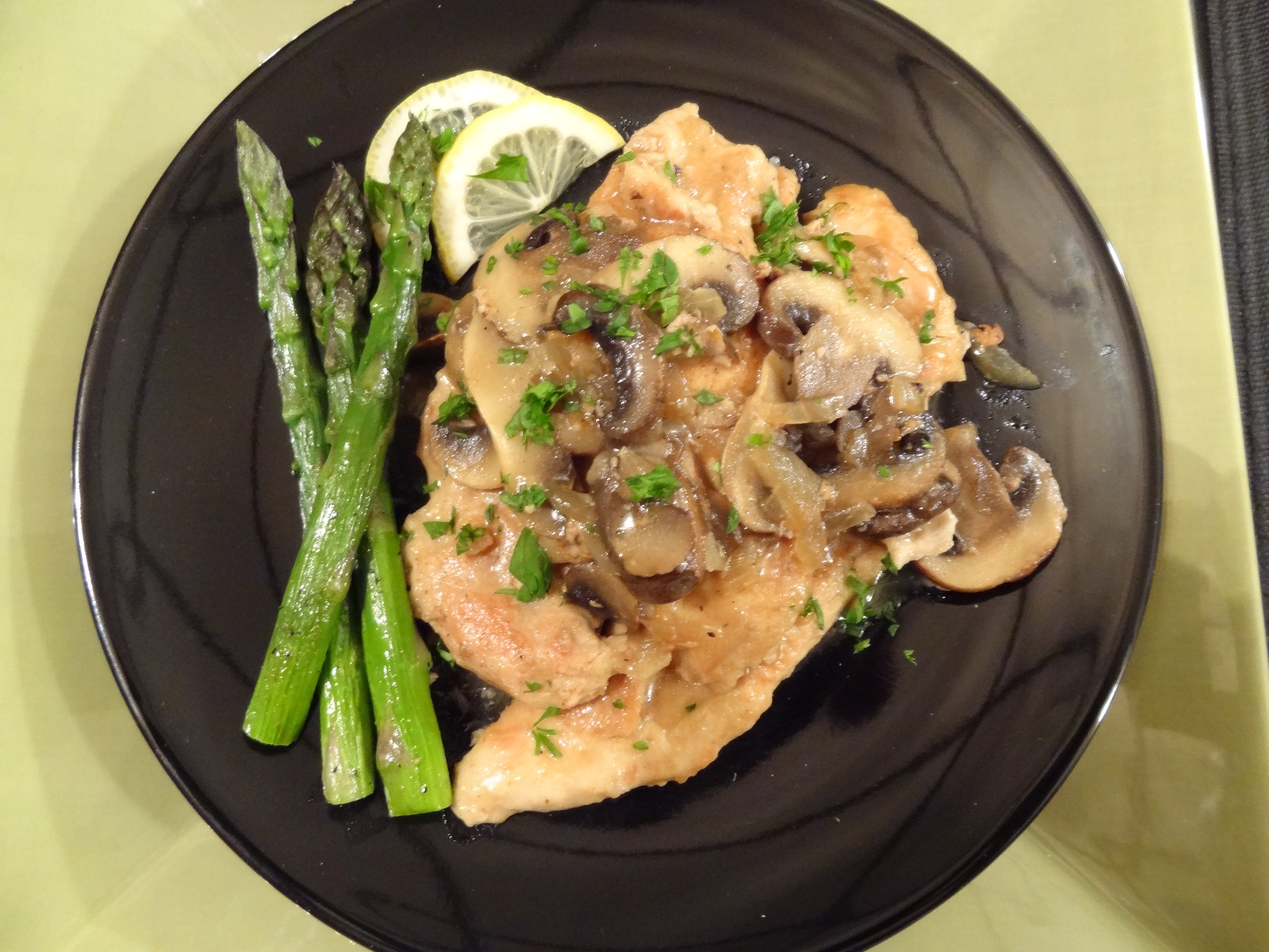 ... Inc Personal Chef Cooking Lessons | Chicken Marsala with Asparagus
