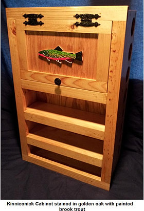 Fly rod reel storage cabinets for fly fishing for Fishing rod storage cabinet
