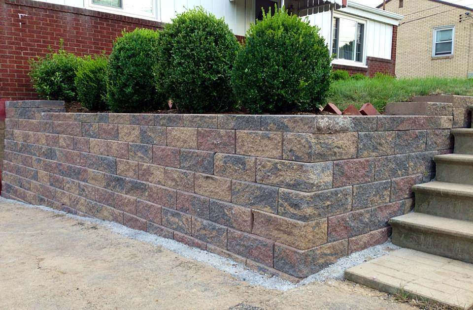Franks Landscaping Pittsburgh Driveway Retaining Wall