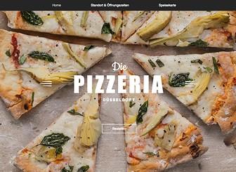 Pizzarestaurant Template - Ein hippes Restaurant braucht eine hippe Website! Bei diesem Template läuft Ihren Besuchern das Wasser im Mund zusammen. Die perfekte Balance zwischen modern und chic für neue Restaurants, die eine Onlinepräsenz erstellen möchten. Mit der Speisekarte von Wix Restaurants können Sie Ihre Gerichte ganz einfach hinzufügen und bearbeiten. Jetzt starten!
