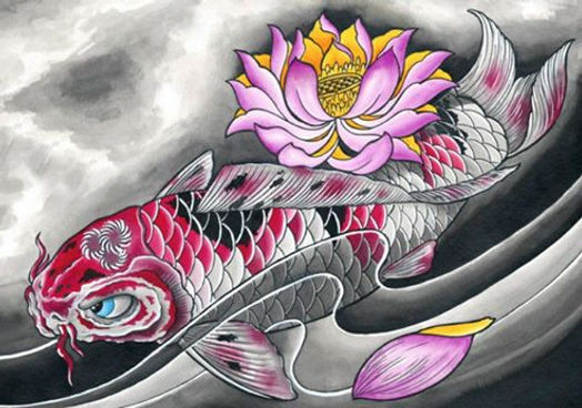 koi fish by derek