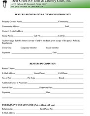 Deer Creek RV Golf and Country Club | Forms CREDIT CARD - Recurring Payment Authorization Form