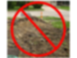 No Dig depiction of lawn