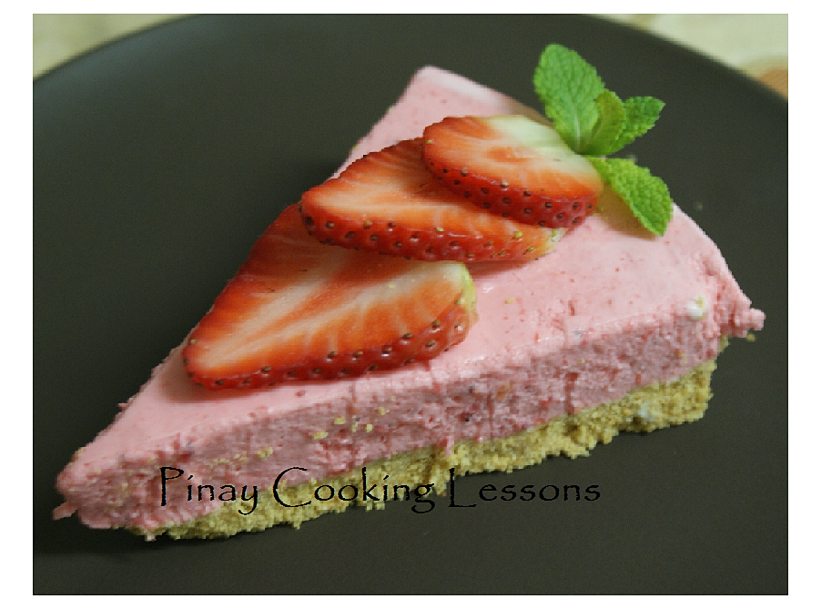 Yummy no-bake strawberry cheesecake recipe, just put it in the ...