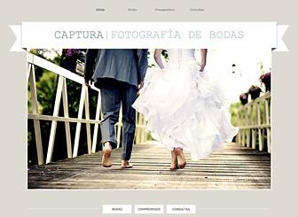 Fotógrafo de bodas Template - Con fuentes clásicas y un diseño elegante, esta plantilla atemporal es perfecta para fotógrafos de bodas y compromisos. Personaliza las galerías para exhibir tu estilo creativo y agrega texto para promover tus paquetes y tarifas.