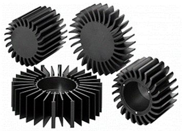 Examples of circular LED heat-sinks.