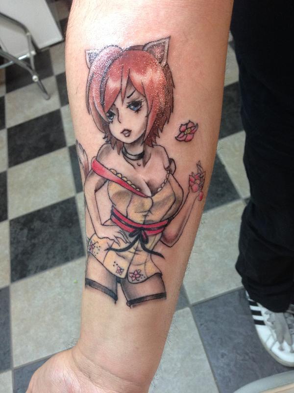 Poke a dotz tattoos and piercings anime tattoo for Sacramento tattoo and piercing