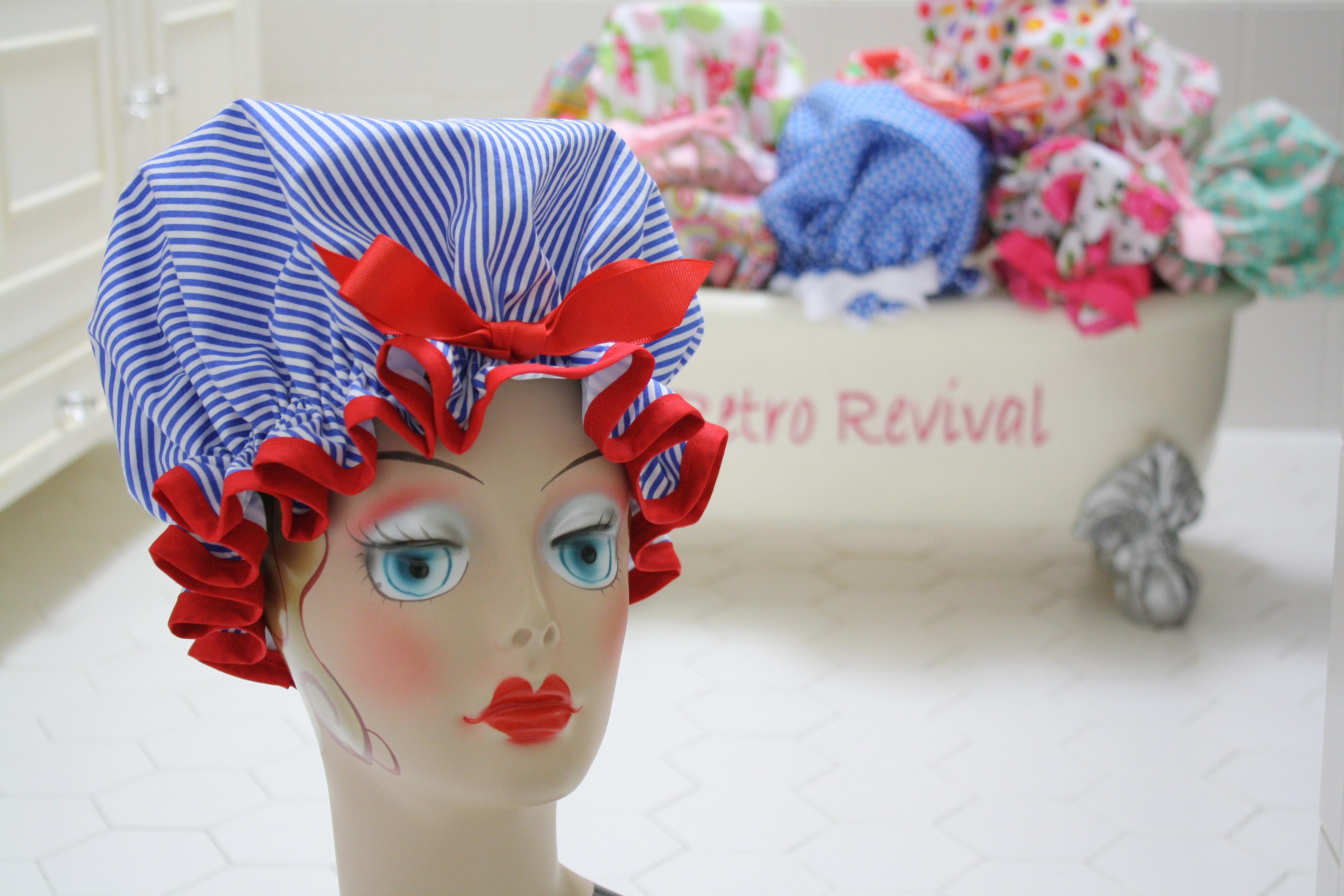 Red Retro Kitchen Accessories Retro Revival Handmade Aprons And Shower Caps Alexandria Va