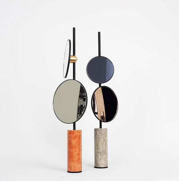 Pair of mirrors by nir meiri studio prodeez for A different angle salon