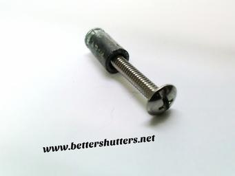 """Exterior Solutions - 3"""" Shutter Fasteners for Vinyl Shutters (12/bag)"""