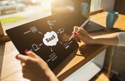 SaaS - software as a service. Internet a