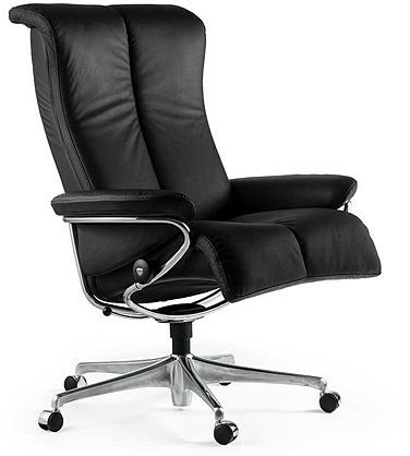 Stressless blues office chair by Ekornes.