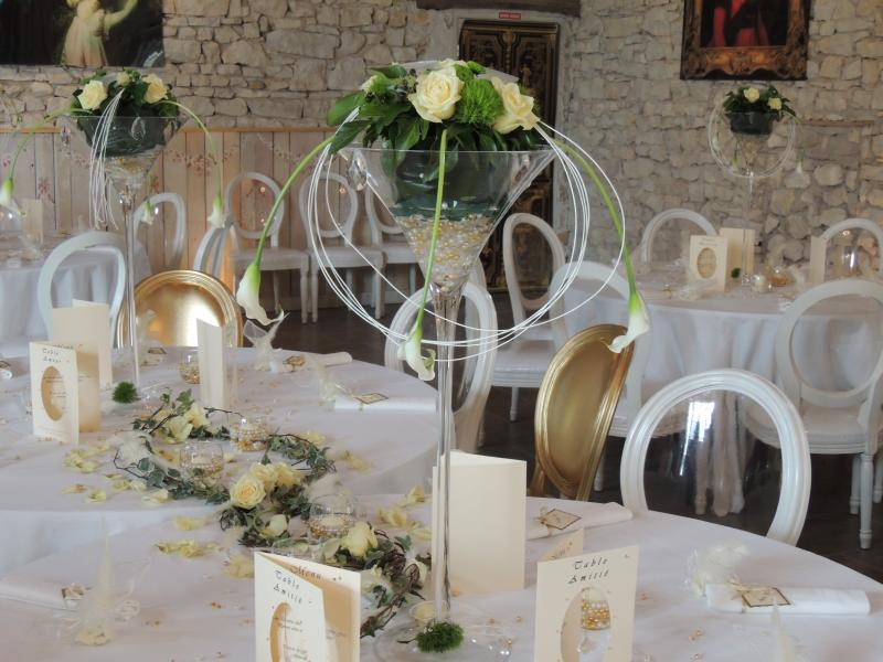N 13 fleuriste fleuriste auxerre location vase martini - Deco salle mariage nature ...