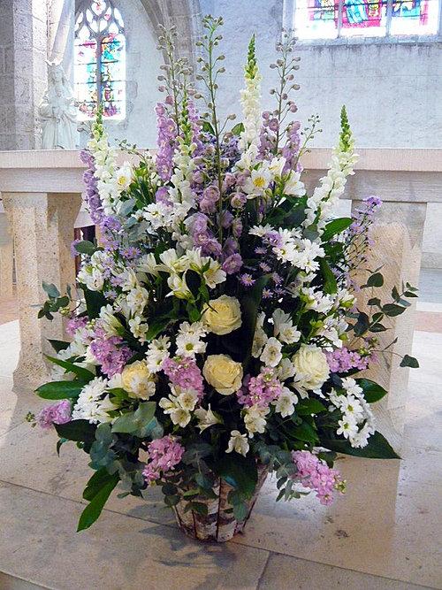 decoration eglise mariage composition florale auxerre yonne