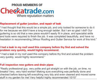 CheckaTrade: 5* Reviewed Roofing and Guttering Services, Worthing