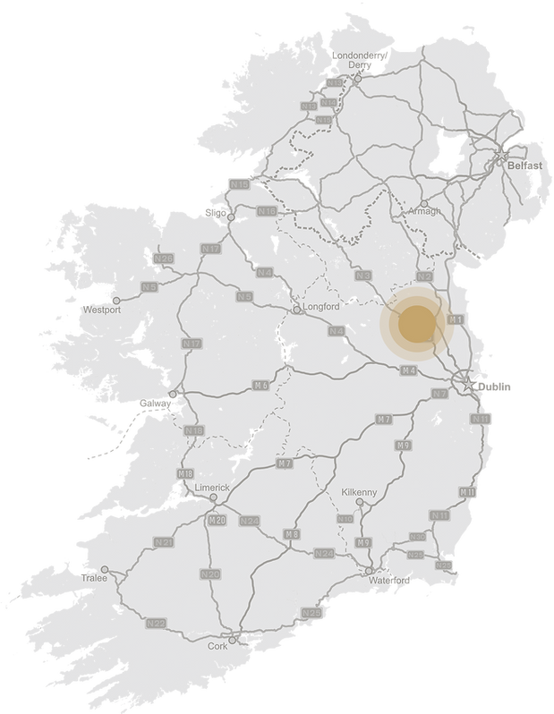 Baldonel Central Ireland Map.png