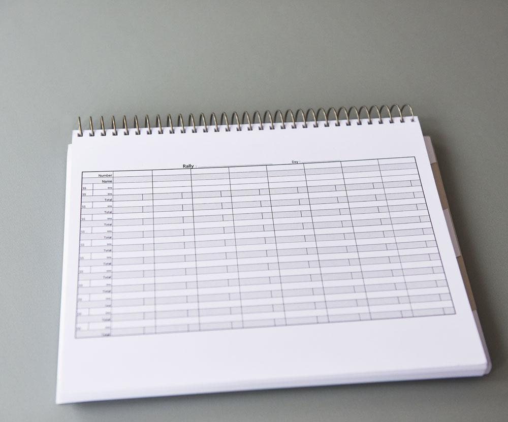Notebook L Rally Pace Note Book I Cahier De Copilote De Rallye