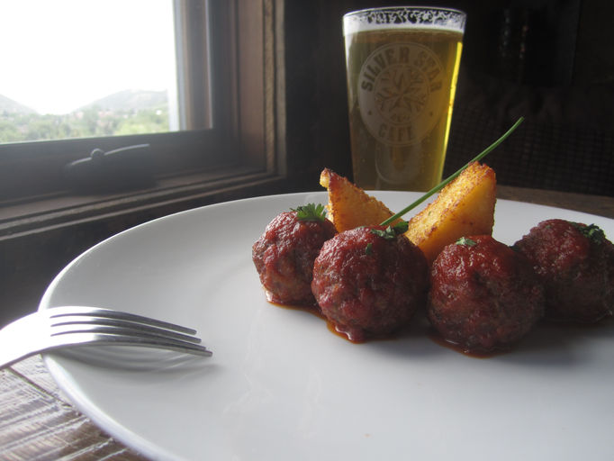 Meatballs and beer